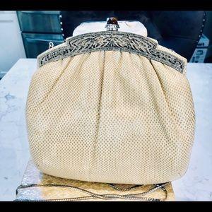 Vintage JUDITH LEIBER Snake Skin shoulder bag.